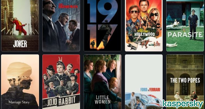Detectan actividad maliciosa bajo el nombre de películas nominadas al Óscar