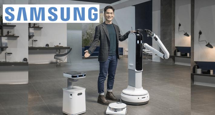 Samsung presentó tres robots en el CES 2021
