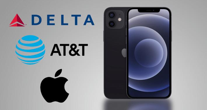 Apple se une a Delta y AT&T para equipar a asistentes de vuelo con iPhone 12